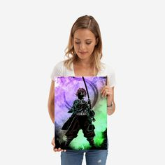 Wonderful Demon Hunter poster made out of metal. Metal Wall Plate for Bedroom and Living Room Get It Here Hunter Anime, Demon Hunter, Poster Making, Plates On Wall, Metal Walls, Making Out, Poster Prints, Make It Yourself, Living Room