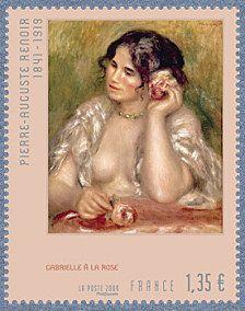 *Gabrielle à la rose - Pierre-Auguste Renoir 1841-1919 - Timbre de 2009