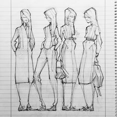 #zejak #fw2014 #sixzejakessentials #coat #blazer #slacks #dress #shirt #skirt #minimal #fashionsketches #handdrawing #blackandwhite #fashion #belgrade