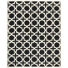 Safavieh Handmade Moroccan Cambridge Black Wool Rug (6' x 9') | Overstock.com Shopping - Great Deals on Safavieh 5x8 - 6x9 Rugs