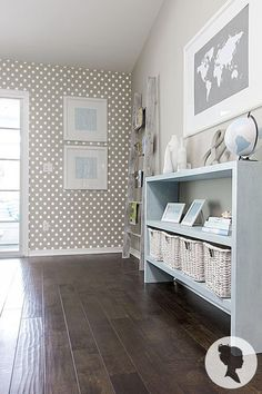 Removable Polka Dot Self Adhesive Wallpaper z028 by Livettes