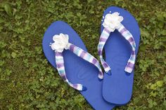Crochet Embellished Flip Flops pattern by Linda Permann