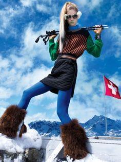 ski bunny style.