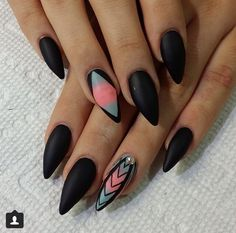 All matte ombré nail design