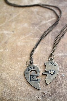 Best Friend I Love You Necklace Set