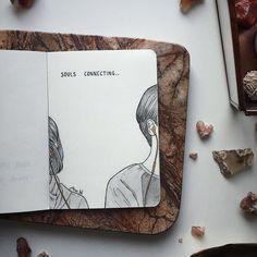 Souls connecting *🖤* art drawings in 2019 libros de arte, di Pencil Art Drawings, Art Drawings Sketches, Sketch Art, Cute Drawings, Anime Sketch, Boy Sketch, Music Drawings, Sketch Ideas, Bullet Journal Art