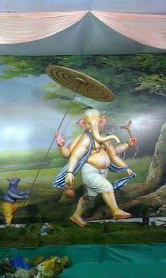 Ganesha Drawing, Lord Ganesha Paintings, Ganesha Art, Ganesha Pictures, Ganesh Images, Ganesh Lord, Shri Ganesh, Lord Shiva Sketch, Ganesh Bhagwan