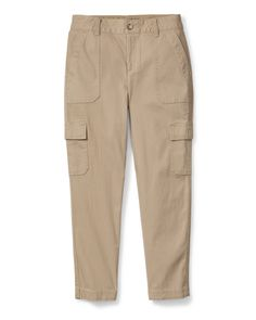 The heart of these cropped cargo pants is the cotton canvas fabric that's both durable and breathable for active comfort. But we also added a touch of spandex for enhanced mobility, and styled them with six pockets for essentials. Girls Khaki Pants, Khaki Pants Outfit, Cargo Pants, Jeans Pants, Canvas Fabric, Cotton Canvas, Khakis, Eddie Bauer, Fashion Pants