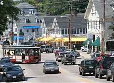 the hustle and bustle of main street  wolfeboro in the summer <3