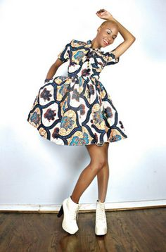 African Prints in Fashion: Fearless and a Good Sense of Style: Demestiks NYC by Reuben Reuel