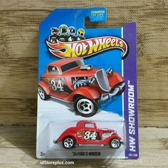 HOT WHEELS '34 FORD 3-WINDOW RED HW SHOWROOM