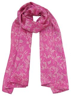 Honeysuckle Pink Scarve Silk 100%  Made in Britain
