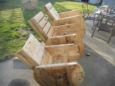 Cool cable spool chairs