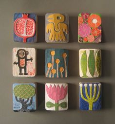 These Nature Inspired Wood Art Blocks are hand sized works of art created by…