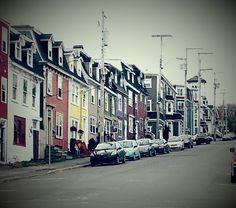 Street in St-John's Newfoundland