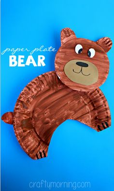 Paper Plate Bear Craft for Kids #Bear art project | CraftyMorning.com
