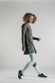 The MeshLectic LS features non- see through mesh panels to keep you extra cool and dry. Hidden zippered pockets, thumb hole sleeves and onesie neckline to give Modest Outfits, Modest Fashion, Modest Workout Clothes, Islamic Fashion, Religious Gifts, Athletic Outfits, Workout Shirts, Workout Outfits, Sport Casual