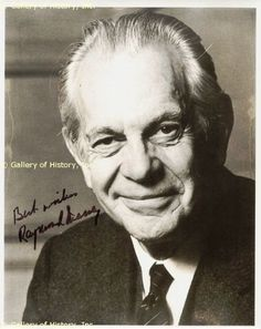 """Raymond Massey - He appeared in the movies """"Arsenic and Old Lace"""" and """"East of Eden"""" and """"Abe Lincoln in Illinois"""" also the TV series """"Dr. Golden Age Of Hollywood, Hollywood Stars, Classic Hollywood, Old Hollywood, Raymond Massey, Richard Chamberlain, East Of Eden, Star Wars, Old Movies"""