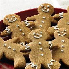 These #Gingerbread Men #cookies are as cute as can be! #recipe #Christmas