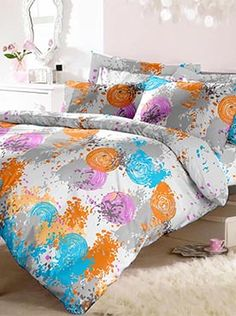 If you need a good quality double bedsheet with two pillow covers, we certainly can give you that. But we can give you much more. Your bedsheet set can become a statement that defines a look for your room. This set is an artist�s palette of Holi colours�young, vibrant, creative and arresting. Our products are made of the finest quality of fabric. This 100% cotton bedsheet will give you comfort and luxury that only our trusted brand can offer. Info Holi Colors, Colours, Bed Sheets, Comforters, Pillow Covers, Vibrant, Palette, Blanket, Pillows