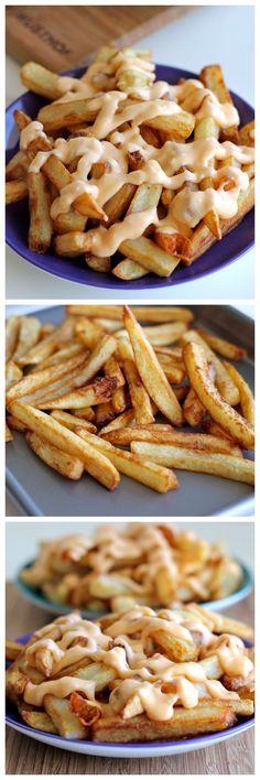 garlic cheese fries