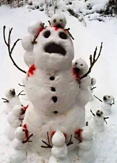 Wishing it was winter again? After Christmas, Christmas Humor, Christmas Crafts, Xmas, Funny Christmas Images, Snowman Images, Pumkin Carving, Funny Snowman, Zombie Girl