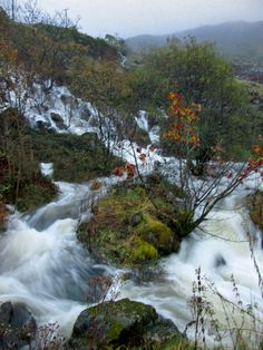 """October 🎼""""It's raining today 🎶 & I'm just about to forget."""" rivers in full spate, waterfalls are torrents & new streams marble the slopes 13 October, It's Raining, Waterfalls, Rivers, Marble, Forget, River, Granite, Marbles"""