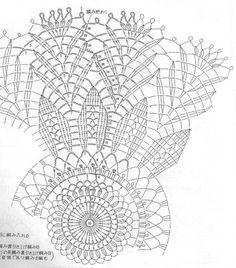 Home Decor Crochet Patterns Part 108 - Beautiful Crochet Patterns and Knitting Patterns Crochet Doily Diagram, Crochet Mandala Pattern, Crochet Circles, Crochet Chart, Thread Crochet, Filet Crochet, Crochet Doilies, Crochet Stitches, Crochet Hooks