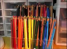 Storage For Graphite Pencils, Colored Pencils, Pens, Markers, Etc..