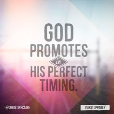 God promotes in His perfect time! Inspirational Bible Quotes, Bible Verses Quotes, Mom Quotes, Quotes About God, Meaningful Quotes, Positive Quotes, Scriptures, Random Quotes, Motivational