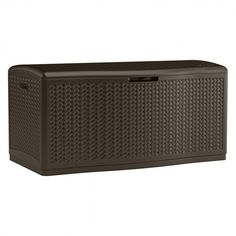 Suncast L x Java Deck Box at Lowe's. Extra large deck box, contemporary mocha color herringbone pattern, constructed of durable double wall resin, great for storing furniture cushions and