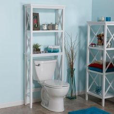 RiverRidge Home X-Frame 26 in. W Bathroom Space Saver in White-06-003 - The Home Depot
