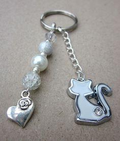 Handmade * CAT Keyring / Handbag Dangler Pet / CAT LOVERS CHARM - Gift Bag | eBay