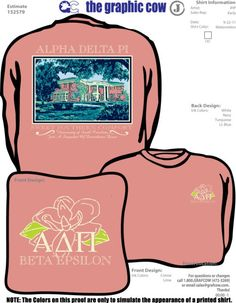Sorority house on a T-shirt!