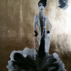Bridget Davies Art: Gold lady 3.