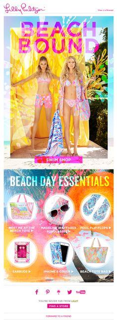 Lilly Pulitzer: bikinis, coverups + more...