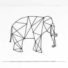 Geometric Stitched Animal Art - this whimsical art can be made in about 30 mins. for just a few dollars!