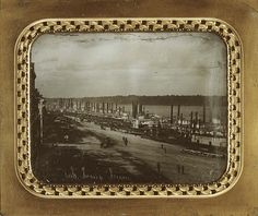 St. Louis Levee, 1852 by Missouri History Museum, via Flickr