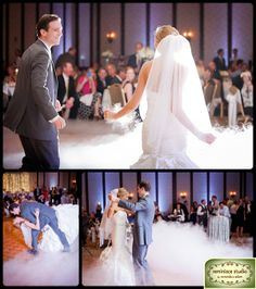 Dancing on a cloud! The DJ's fog machine added so much drama and elegance. | Wedding reception ideas | Osthoff Resort | Reminisce Studio by Miranda & Adam