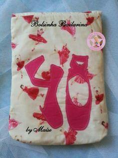 Bolsinha Bailarina em tecido 100% algodão