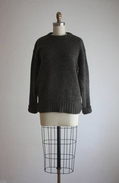 slouchy wool pullover