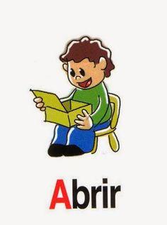 Vocabulario en imágenes. Maestra de Infantil y Primaria.: Acciones