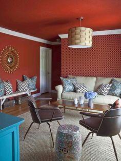 Modern + Traditional in Vibrant Living & Dining Room Redo from HGTV