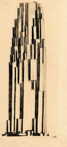 Lazar Khidekel, suprematist arkhitekton (1924)