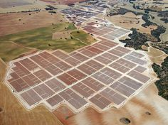 The Olmedilla Photovoltaic (PV) Park in Spain uses 162,000 flat solar photovoltaic panels to deliver 60 megawatts of electricity on a sunny day.