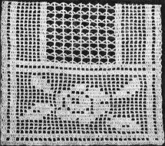 Rose Runner Free Filet Crochet Pattern