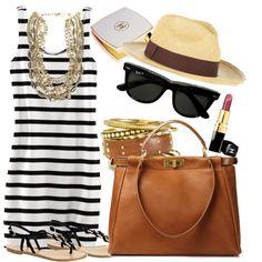 a fashionable beach day