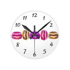 Funny_Cute_Burger Round Wallclock