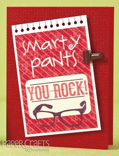 Smarty Pants card by Emily Keaton for Card Creations, Vol. 12; make cards, die cutting