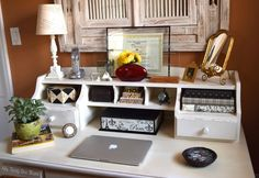 How To Feng Shui Your Desk: Want to improve your chances for prosperity, recognition, career, health and relationships? Just rearrange the stuff on your desk! Feng Shui Your Desk, Metal Pen, Neat And Tidy, Improve Yourself, Interior Design, Relationships, Career, Health, Work Spaces